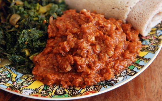 Misor Wat - Ethiopian Spicy Lentils