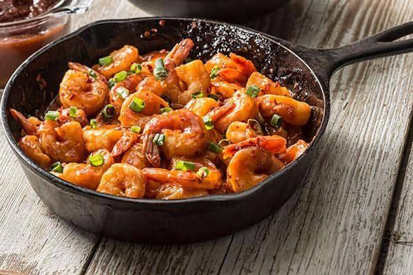 Anna Mae's on shrimp.