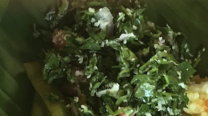 Sri Lanka Kale and Coconut Salad