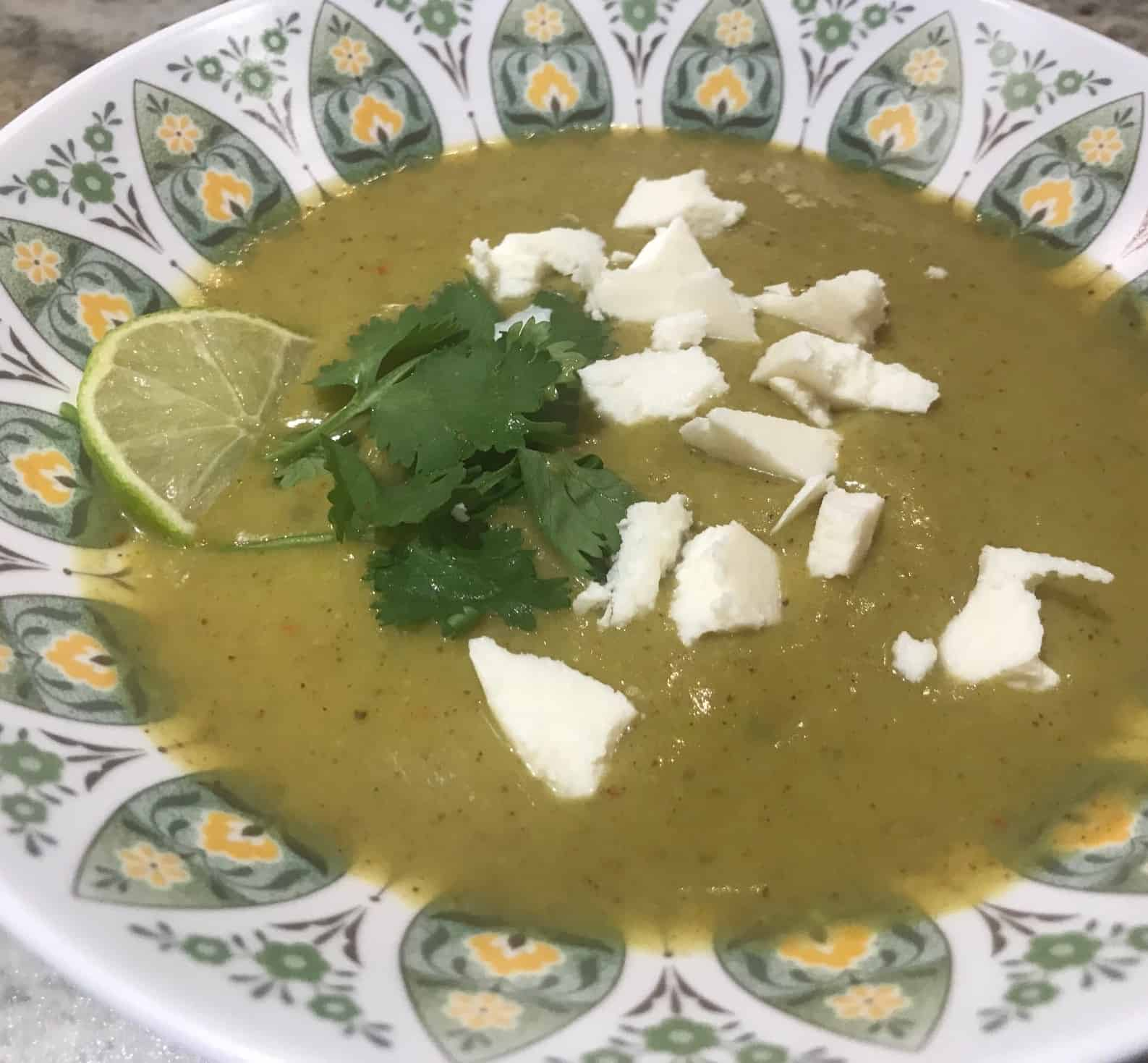 Avocado and Green Peppercorn Soup