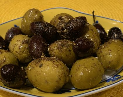 Warm Olives with Za'atar