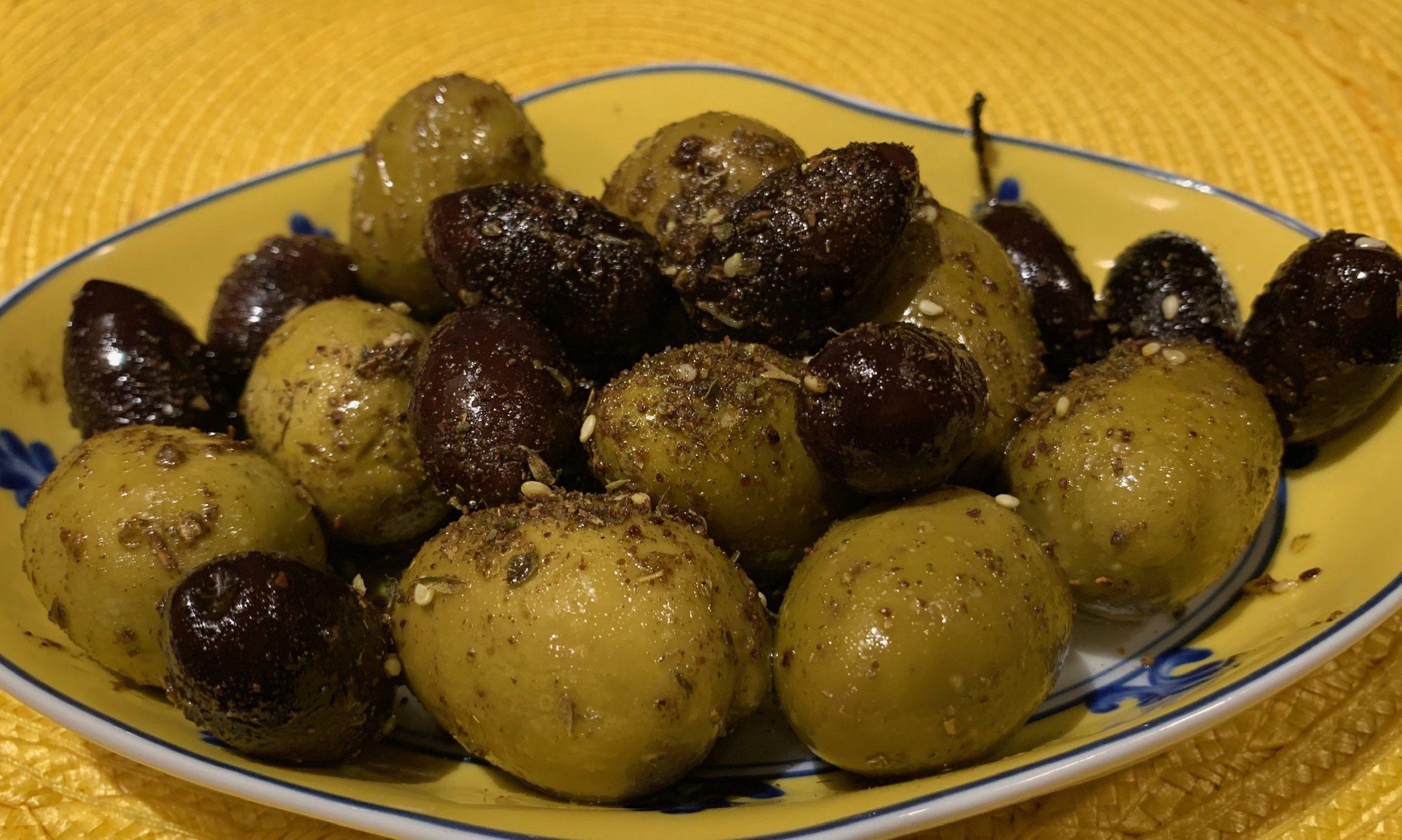 Warm Olives with Za'atar