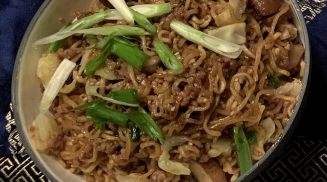 Noodles with Japanese 7 Spice