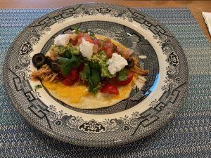 pork carnitas taco with fixing
